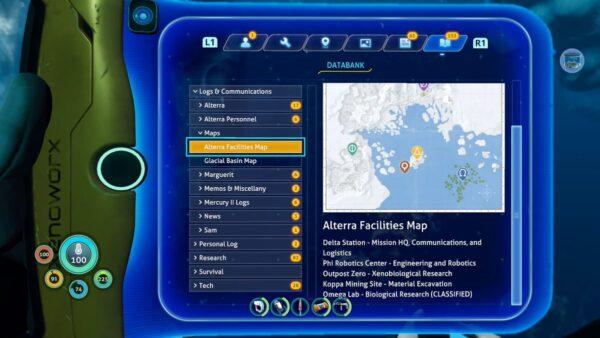 ビロウゼロの地図